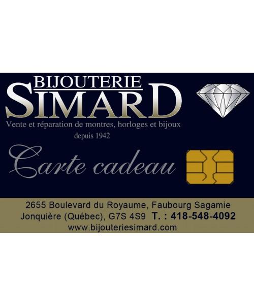 Carte-cadeau de la Bijouterie Simard de Saguenay