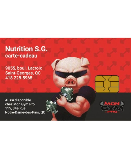 Nutrition S.G. de Saint-Georges | Carte-cadeau à rabais