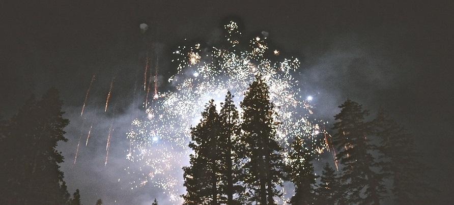 St-Valentin - Des feux d'artifices l'hiver
