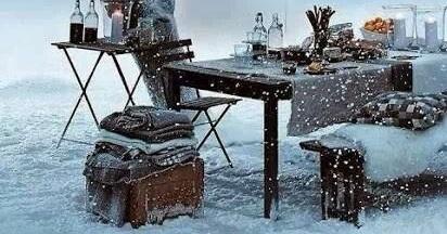 St-Valentin - Un pic-nic l'hiver